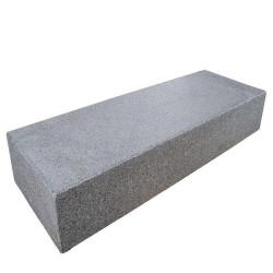Granit Mauersteine  Rot Schwarz 20 cm hoch gespalten 20 cm tief