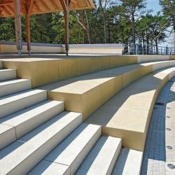 Granit Pflaster Platten dunkelgrau Anthrazit 8 cm stark geflammt verschiedene Größen
